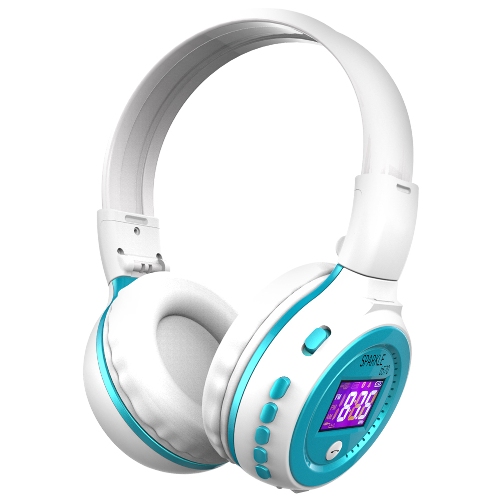 Zealot B570 Earphone Headphone with LCD Screen Bluetooth Headphone Foldable Hifi Stereo Wireless Headset FM Radio TF SD Slot 2