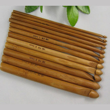 Weaving Tools Big Yarn Sweater Needle Eco Friendly Bamboo Crochet Set Of 12pcs(China)