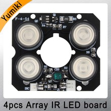 Yumiki 4pcs array IR led Spot Light Infrared 4x IR LED board for CCTV cameras night vision (52mm diameter)(China)