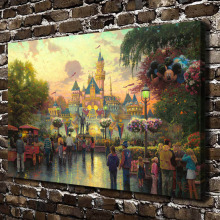 H1154 Thomas Kinkade 50th Anniversary celebration, HD Canvas Print Home decoration Living Room Wall pictures Art painting(China)