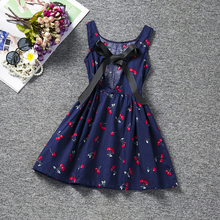 Kids Party Dresses For Girls Clothes New Brand Little Girls Print Halter Dress Princess Summer Sundress Kids Children Clothing