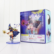 14cm Wizarmon Tailmon Figure Toy Digimon Adventure Anime Model Doll for Children(China)