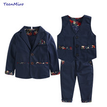 Kids Formal Wedding Clothes Suit Baby Boy Blazer Set Boys Tuxedo Suits Jacket Vest Pants Man Formal Clothing For Weddings