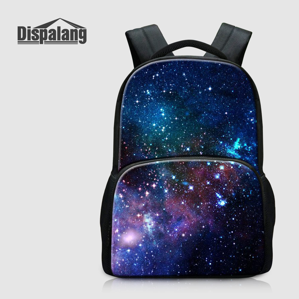 Dispalang Personalized Design Laptop Backpack For College Custom Universe Space School Bags For Boys Galaxy Child Bagpack Rugzak<br>