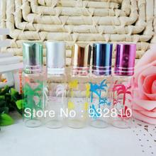 8ml HOT Sale Color Flower Glass Scented Bottle Perfume Cosmetic Containers Skin Care Tools 10pcs/lot DC577