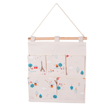 Makeup Organizer Hanging Storage Bag Linen Cotton Sundries Household Organizer For Cosmetic Storage Container Home Decor