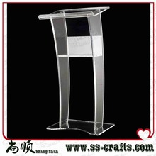Modern style clear acrylic lectern podium for church or meeting room