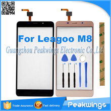 "5.7""inch Black&Gold Touch Sensor For Leagoo M8 Touch Screen With Digitizer Panel"