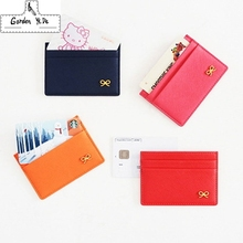 2016 Simple ID holder sets card package Wallet door clip card holder Credit Card of porte carte Bow multi-card-bit pack bag
