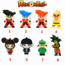 Cartoon Goku Kuririn usb flash drive disk memory stick Dragon Ball Pen drive personalized mini gift pendrive 4gb 8gb 16gb 32gb