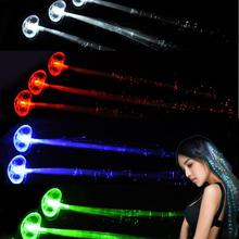Beauty Girl 2017 Hot Sale LED braided  Flash Light Emitting Braids Hair  Charming  Hair Wig Halloween Night Essential Artifacts