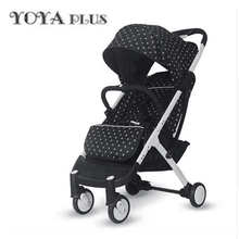 YOYAPLUS baby stroller light folding umbrella car can sit can lie ultra-light portable on the airplane(China)