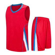 Best quality breathable basketball jerseys cheap college men's throwback jerseys sports clothes sleeveless uniforms red  LD-8091