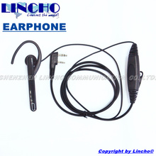 new 2 pin ear bar mic hands free ear loop headset for walkie talkie baofeng UV5R 5RB 5RC 5RE UV82(China)