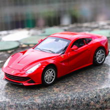1:32 F12 Pull Back Simulation Sport Car Model Autos a Escala Acousto-optic Diecast Metal Vehicles Boys Aolly Car Toys For Kids