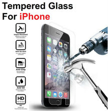 High Clear Explosion-proof Front LCD Tempered Glass Film For iPhone 4 4s 5 5s 5c se 6 6s 7 8 Plus X Screen Protector(China)