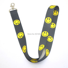 Free Shipping 20/Lot Smiling Face sporting PHONE LANYARD KEYS ID NECK STRAPS Wholesale(China)