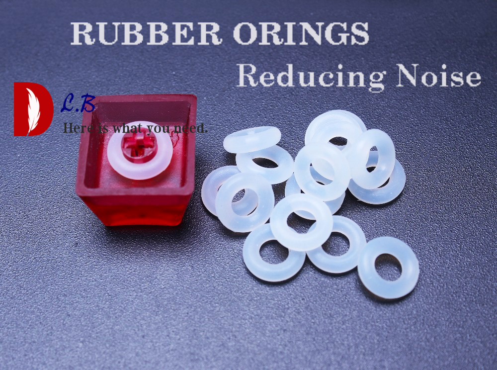 RED Cherry MX Rubber O-Ring Switch Dampeners 125 pcs US Seller
