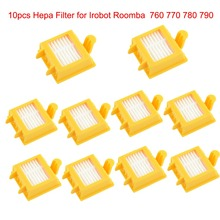 10pcs Hepa Filter Clean Replacement Tool Kit Fit for iRobot Roomba 700 Series 760 770 780 790 Free Shipping(China)