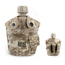2017 Fashion Water Bottle US Military kettle Hiking Camping Kettle Outdoor Aluminum Canteen Nylon Canteen Cover(China)