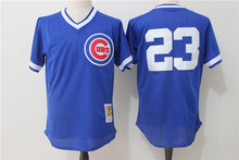 MLB Men's Chicago Cubs 23 Sandberg Blue Players Weekend Authentic Throwback Baseball Jerseys(China)