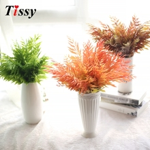 Grass Leaves Plastic Artifical Maple Leaves Fake Autumn Fall Leaf Wedding Party Decoration Craft Art Home Table/Bedroom Decor