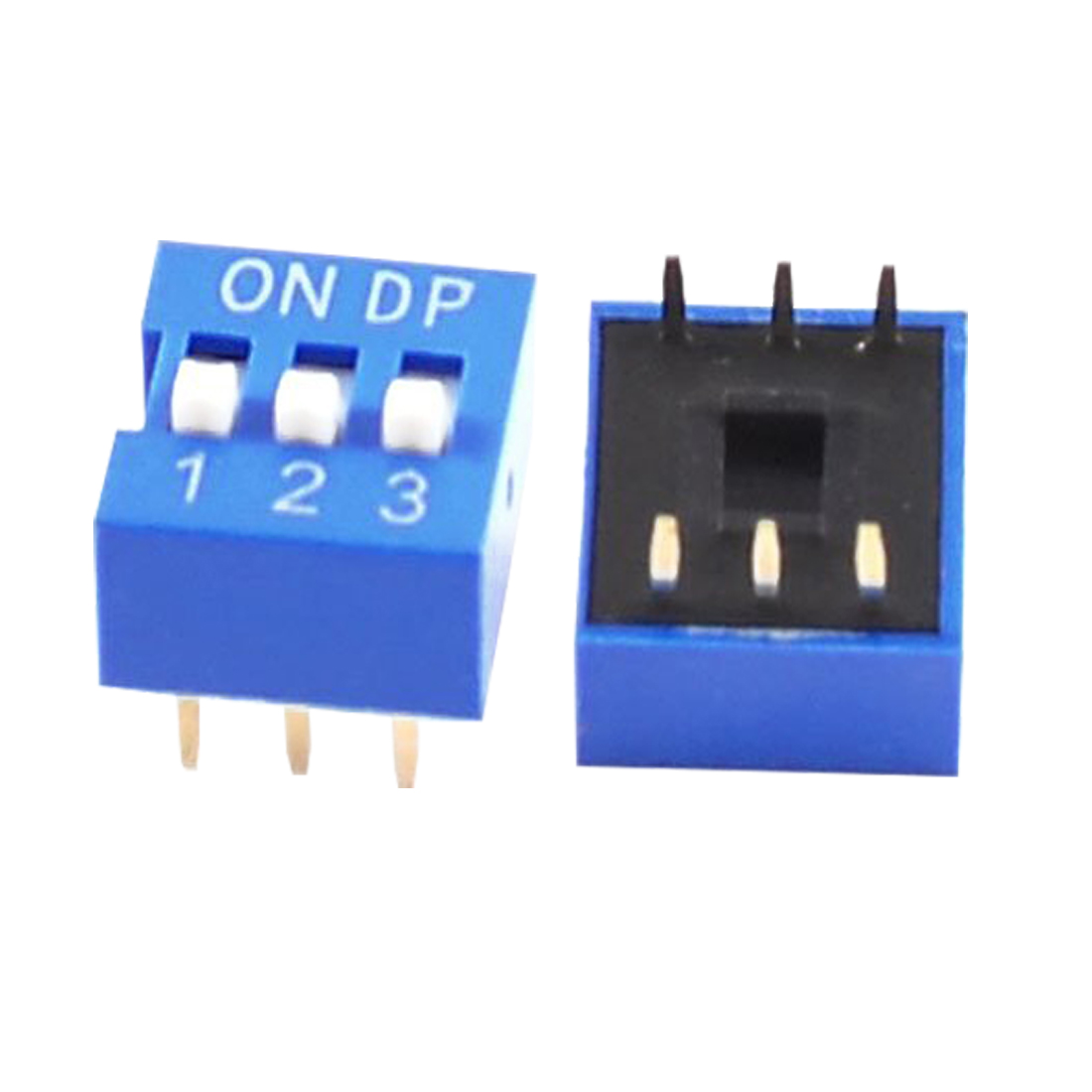 WSFS Hot 10 Pcs Blue Double Row 6 Pin 3 Positions 2.54mm Pitch DIP Switches<br><br>Aliexpress
