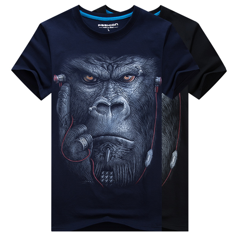 HTB1PoS8RpXXXXahXFXXq6xXFXXXv - 2017 Summer New 3D T Shirt Men's Short-sleeve Fashion O-Neck animal T-shirt Printed Casual Navy blue Male Shirts Plus size 6XL