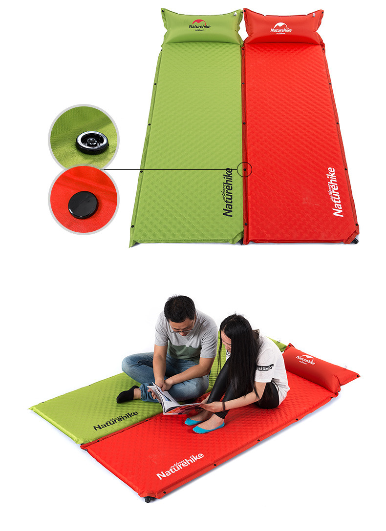 Naturehike One Person Automatic Inflatable Camping Mat Folding Sleeping Pad  Air Mattress Dampproof  Airbed Camping Equipment<br><br>Aliexpress