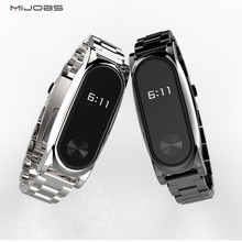 Buy Mijobs Metal Strap Xiaomi Mi Band 2 Straps Stainless Bracelet Smart Band Replacement Accessories Screen Protector Film for $13.18 in AliExpress store