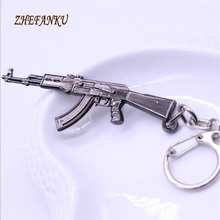2017 Hot Game Pendant Keyrings  Weapon Model Metal Keychain  Pop Game  Fire Gun Key Chains