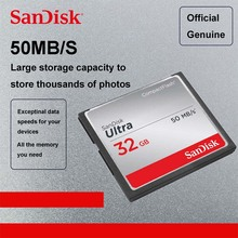 100% Original SanDisk Fit Ultra CF card in Memory Card 32GB Compact Flash Card 50 MB/s 16gb 8gb Support official verification(China)
