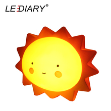LEDIARY Cute Cartoon LED Night Light Sun Cloud Star Moon Shape Smile Face Baby Bedside Lamp Switch Control With Battery Toy