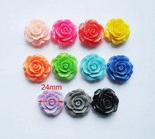 DIY Glitter Rose Cabochon crafts Great for bracelet,necklace,earring,ring,bobby pins,scrapbooking charms flower designer