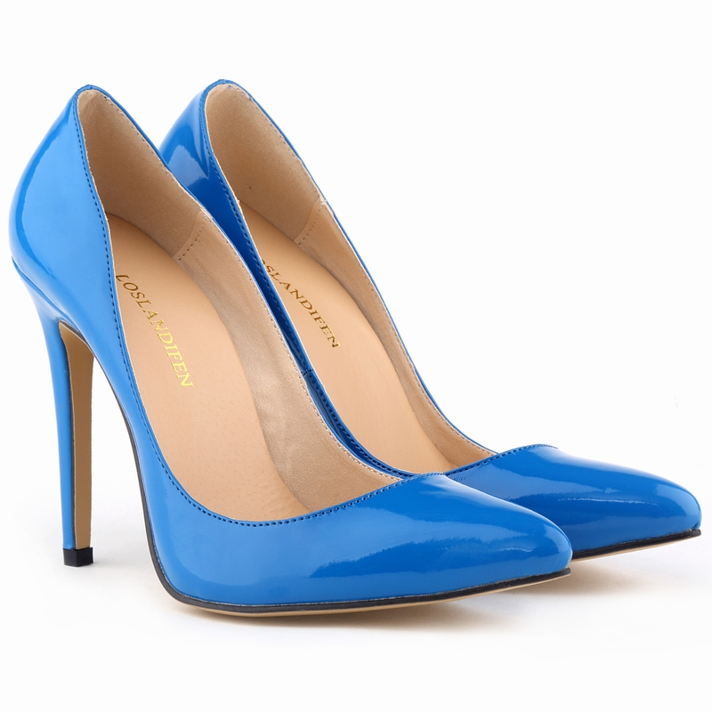 2016 New Arrival WomenS Fashion Solid Candy Color Pumps Female Casual Pointed Toe Pu Thin Heels Pumps Shoes SMYNLK-EA0062<br><br>Aliexpress