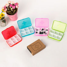 6 Grid Mini Durable Portable Travel Tablet Pill Storage Box Medicine Organizer Container Holder Case Red Green Blue Pink