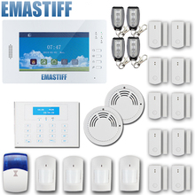 Classic DIY GSM850/900/1800/1900Mhz 868MHZ alarm system with detailed menu,friendly interface,Lithium battery Home alarm panel(China)