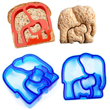 Plastic Sandwich Cutter Butterfly Dinosaur Puppy Elephant Puzzle Dolphin Star Shape Bread Toast Mold Mould Maker