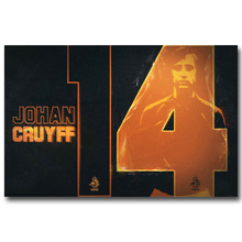 NICOLESHENTING Johan Cruyff Football Legend Art Silk Poster Print 13x20 inches Netherlands Soccer Star Pictures Room Decor 011