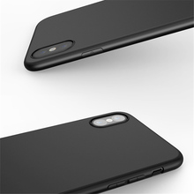 black Phone Case For iPhone X 5 5S 6 6S 7 8 Plus cover Soft TPU Super Thin 5.8 5.5 4.7 Matte Red shell for iX i6 i6s i7 i8 case(China)