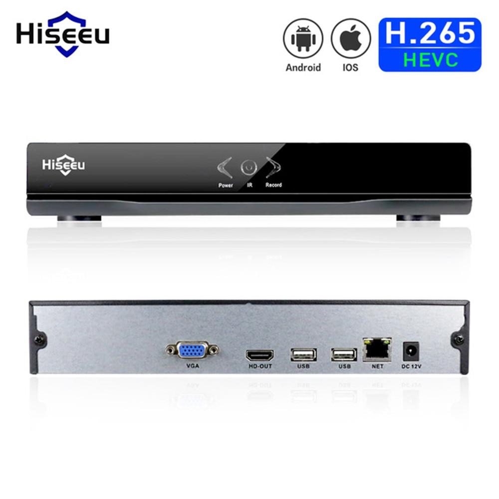 Hiseeu DVR 4CH H.264 VGA HDMI CCTV NVR P2P Metal Case NVR 1920*1080P ONVIF 2.0 For IP Camera Security System Dropshipping 48<br>