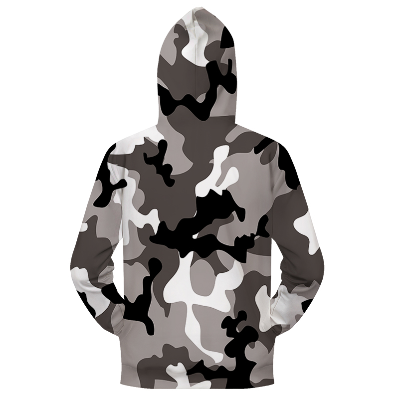 Grey Camo 3D Zip Hoodies Men S Clothing Women Sweatshirt Zipper Tracksuit Groot Hoody Hooded Coat Pullover Dropship ZOOTOPBEAR 7
