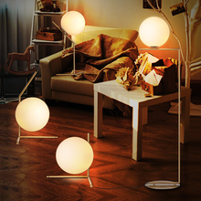 Nordic Flos IC Floor Light Moden Glass Ball LED Stand Lamp  Creative Table Light For Study Room /bedroom