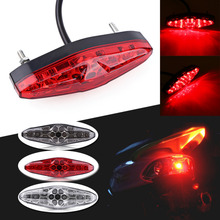 Hot! 12V 15 LED Motorcycle Portable Integrated Brake+Turn Signals Tail Lights Motorbike Rear Light ATV Dirt Bike Universal(China)