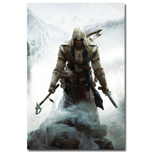 NICOLESHENTING Assassins Creed 3 4 Black Flag Art Silk Fabric Poster Huge 13x20 32x48 inches Game Wall Pictures 005