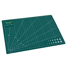 PVC Cutting Mat A4 Durable Self-healing Cut Pad Patchwork Sewing Tools Handmade Diy Accessory Cutting Plate Dark Green 22 x 30cm
