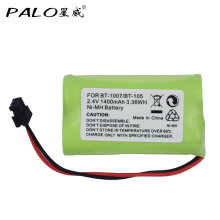 Hot Sale Universal Cordless Phone Battery 2.4V AA 1400mAh NI-MH Home Rechargeable BT-1007 BT-105 For Uniden BT904, BP904, BT1007