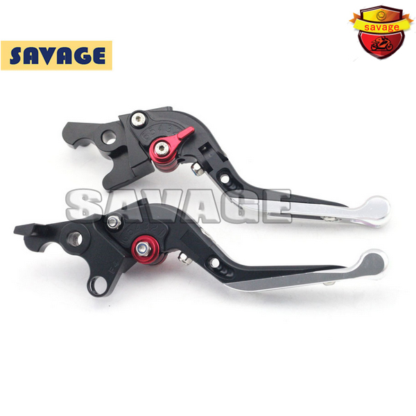 For MV Agusta BRUTALE 1078 989R 910 750 Motorcycle Accessories CNC Folding Extendable Brake Clutch Levers Silver+Black<br><br>Aliexpress