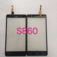 Black White Front Glass Lens + Touch Screen Digitizer For Lenovo S860 Replacement for Mobile Phone LCD Screen Case