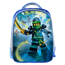 New Arrival Blue Backpack Cartoon Ninja Children School Bags 3D Cartoon Kids Kindergarten Bookbag Holiday Gifts for Boys Girls(China)